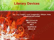 Literary Devices Powerpoint (MS Standard 2d2)