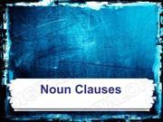 Noun Clauses Powerpoint (MS Standard 4c4)