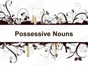 Posessive Nouns Powerpoint (MS Standard 4a1)