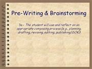 Prewriting & Brainstorming Powerpoint (MS Standard 3a)
