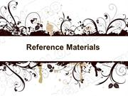 Reference Materials Powerpoint (MS Standard 1f)