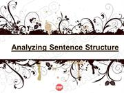 Sentence Structure Powerpoint (MS Standard 4c1)