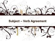 Subject Verb Agreement Powerpoint (MS Standard 4a4)
