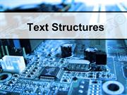 Text Structures Powerpoint (MS Standard 2a3)