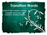 Transitions Powerpoint (MS Standard 2b)