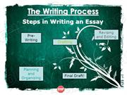 Writing Process Powerpoint (MS Standard 3a)