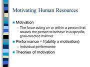 Motivating Human Resources.05