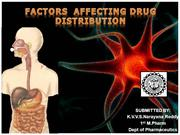 FACTORS AFFECTING DRUG DISTRIBUTION