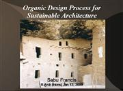 Sustainability + Organic Architecture
