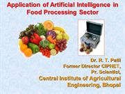 Artificial Intelligence in Food Processing