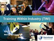 Training Within Industry (TWI) by Allan Ung