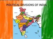 POLITICAL DIVISIONS OF INDIA