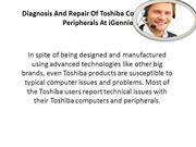 Diagnosis And Repair Of Toshiba Computers and Peripherals