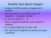 # of negatives - more info on integers