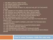 Einsteins riddle the easy way