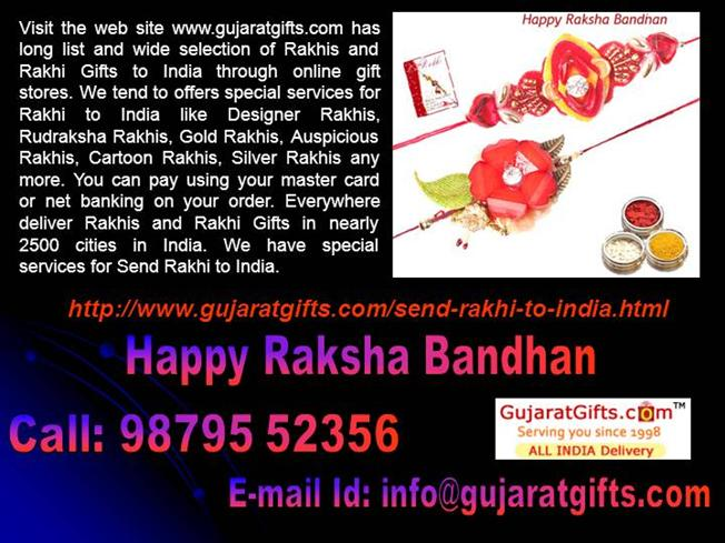 Sending Rakhi to India and Rakhi Gifts Online to Gujarat Gifts