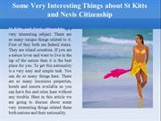 Some Very Interesting Things about St Kitts and Nevis Citizenship
