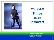 Thrive as an Introvert