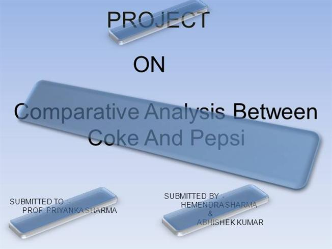 Comperation Between Coke And Pepsi |authorSTREAM