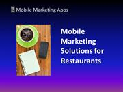 Mobile Marketing Solutions for Restaurants