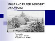 Paper Industry Presentation
