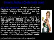 How to Reduce Cholesterol Level