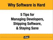 Why Software is Hard