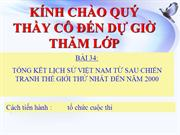Lch s 9, bi 34: Tng kt lch s Vit Nam t sau chin tranh th gi