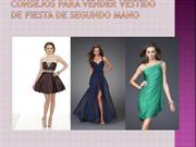 CONSEJOES PARA VENDER VESTIDO DE FIESTA DE SEGUNDO MANO