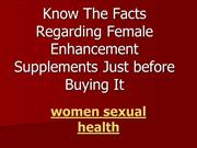 women sexual health