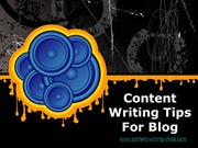Content Writing Tips For Blogs