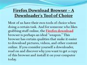 Firefox Download Browser  A Downloader's Tool of Choice