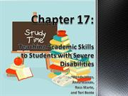 Ch 17 Teaching Academic Skills