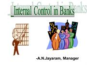 INTERNAL CONTROLS IN BANK