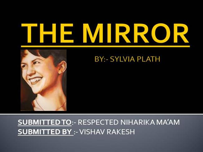 mirror by sylvia plath summary