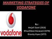 Marketing Strategies Of Vodafone