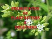 Plant bitters and sweeters