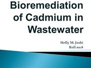 Bioremediation of Cadmium in Wastewater [Autosaved]