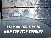 Read On For Tips To Help You Stop Snoring
