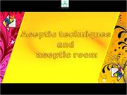 aseptic technic and aseptic room
