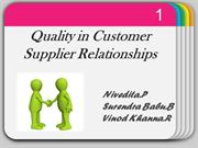 Quality In Customer-Supplier Relationship