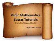 Vedic Math Presentation Revised