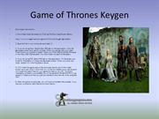 Game of Thrones Keygen Generator %100 Working