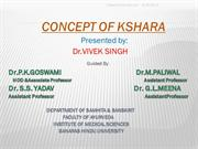 CONCEPT OF KSHARA in ayurveda