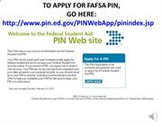 FAFSA Sildes PIN (Chinese)