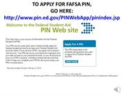 FAFSA Sildes PIN (English)