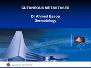 cutaneous metastases