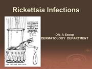 Rickettsia Infections