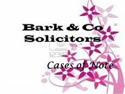 Cases - Bark & Co Solicitors - Specialist Fraud Firm
