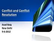 Conflict and Conflict Resolution-asad baig